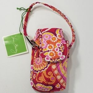 NWT pink orange paisley cell phone keychain case